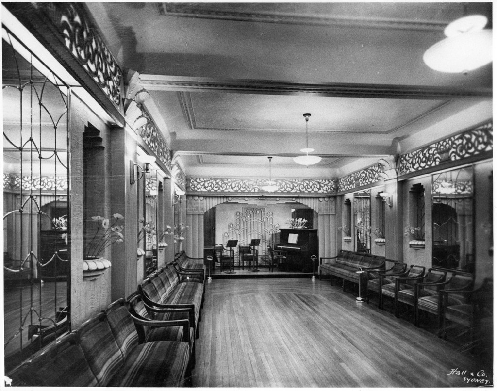 Banquet Hall with original flooring, 1930's