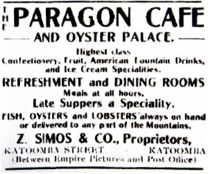 Paragon Cafe and Oyster Palace Katoomba Zac Symos